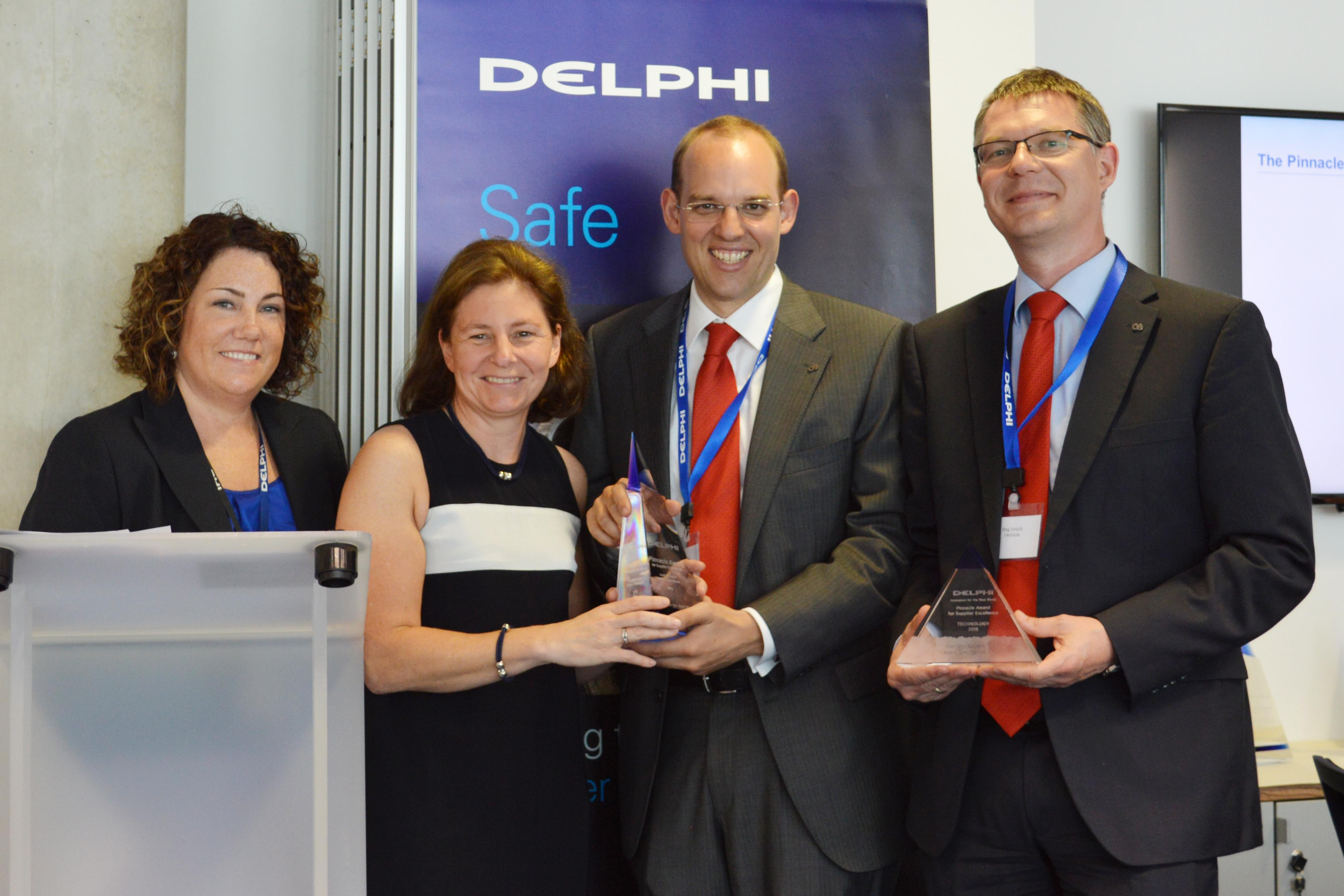 Pinnacle Award 2015 from Delphi Automotive