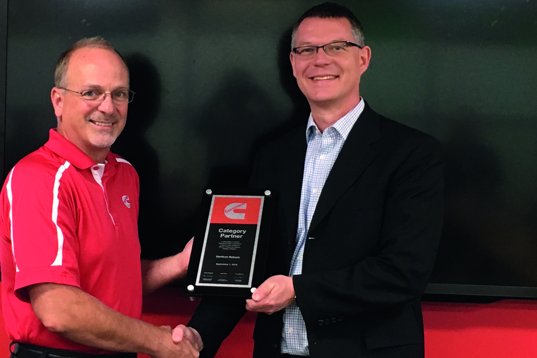 Supplier Award from Cummins Inc., USA