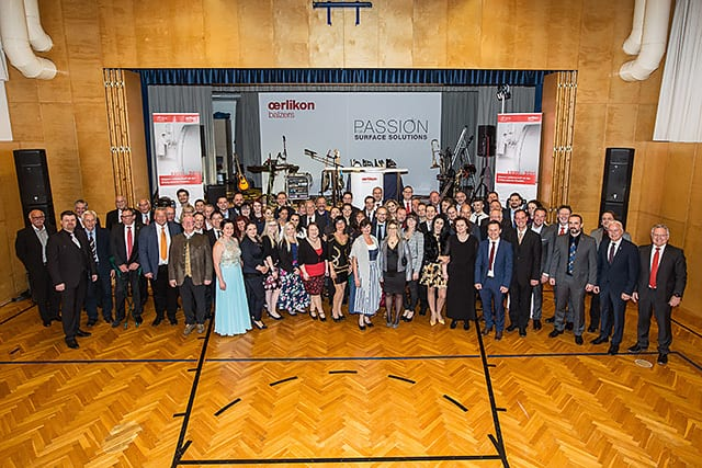 Employees and guests of honour celebrated the 20th anniversary of Oerlikon Balzers Austria
