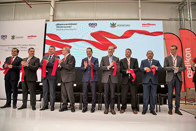 The traditional ribbon cutting during the opening ceremony