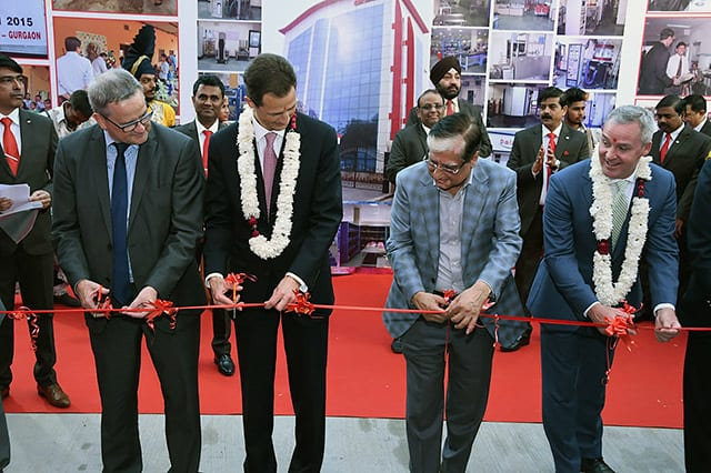 Manesar inauguration - ribbon cutting
