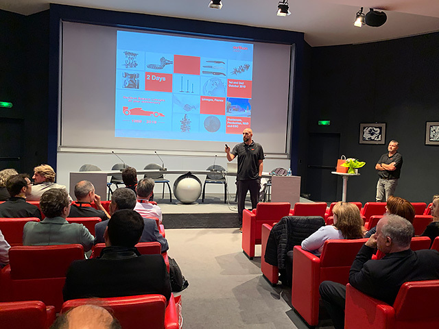 Marc Hervé, Motorsports Segment Manager, gave a presentation in which he outlined the history of motorsports at Oerlikon Balzers, introduced the latest coating technologies and solutions for precision components in the industry, and looked ahead to future innovations.