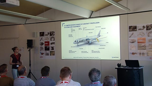 Dr. Marjorie Cavarroc gave a presentation on PVD applications in aeronautical components