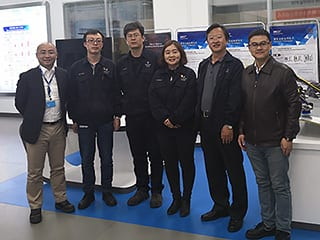 Mr. Henry Guo, Oerlikon Balzers China, Mr. Chen Wengui, Mr. Xu Honghai, Ms. Li Shanshan and Mr. Zhang Dongwei from Beijing Benz Automotive Co., Ltd., Mr. Leo Huang, Oerlikon Balzers China.