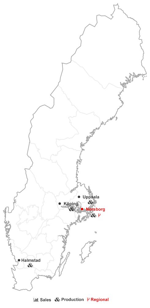 Locations Sweden Oerlikon Balzers - Us map sweden