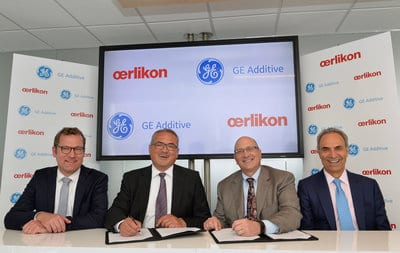 GEadditive and Oerlikon sign partnership
