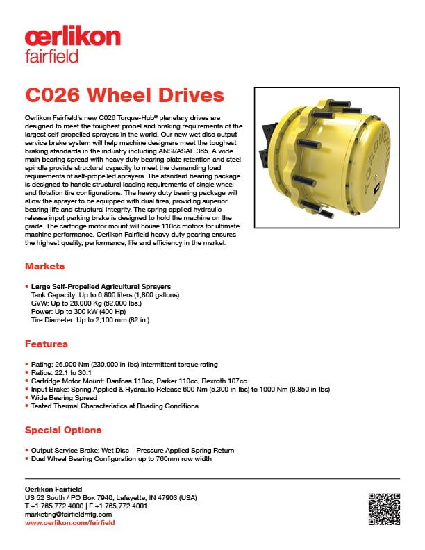 Tech Sheet - C026 Wheel Drives