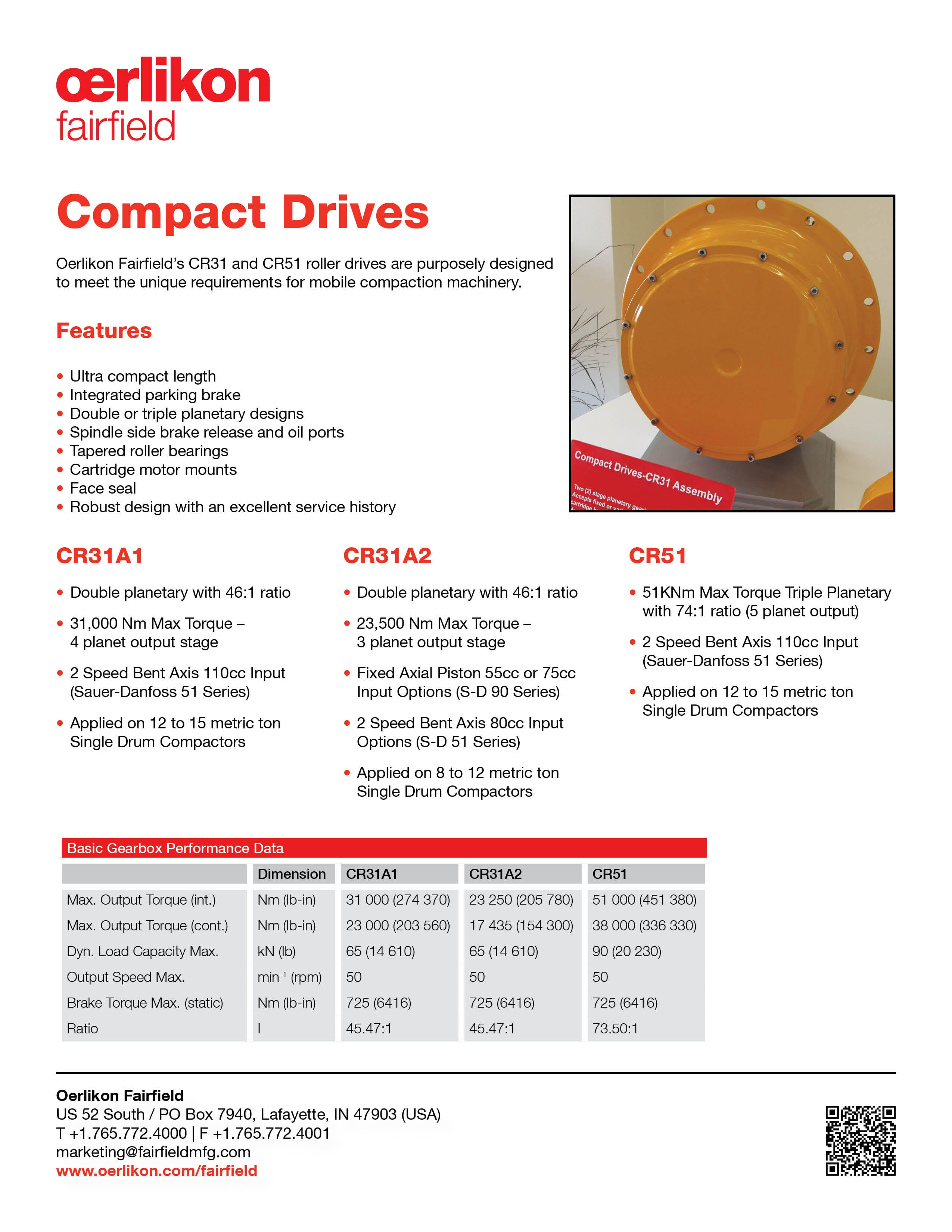 Tech Sheet - Compact Drives