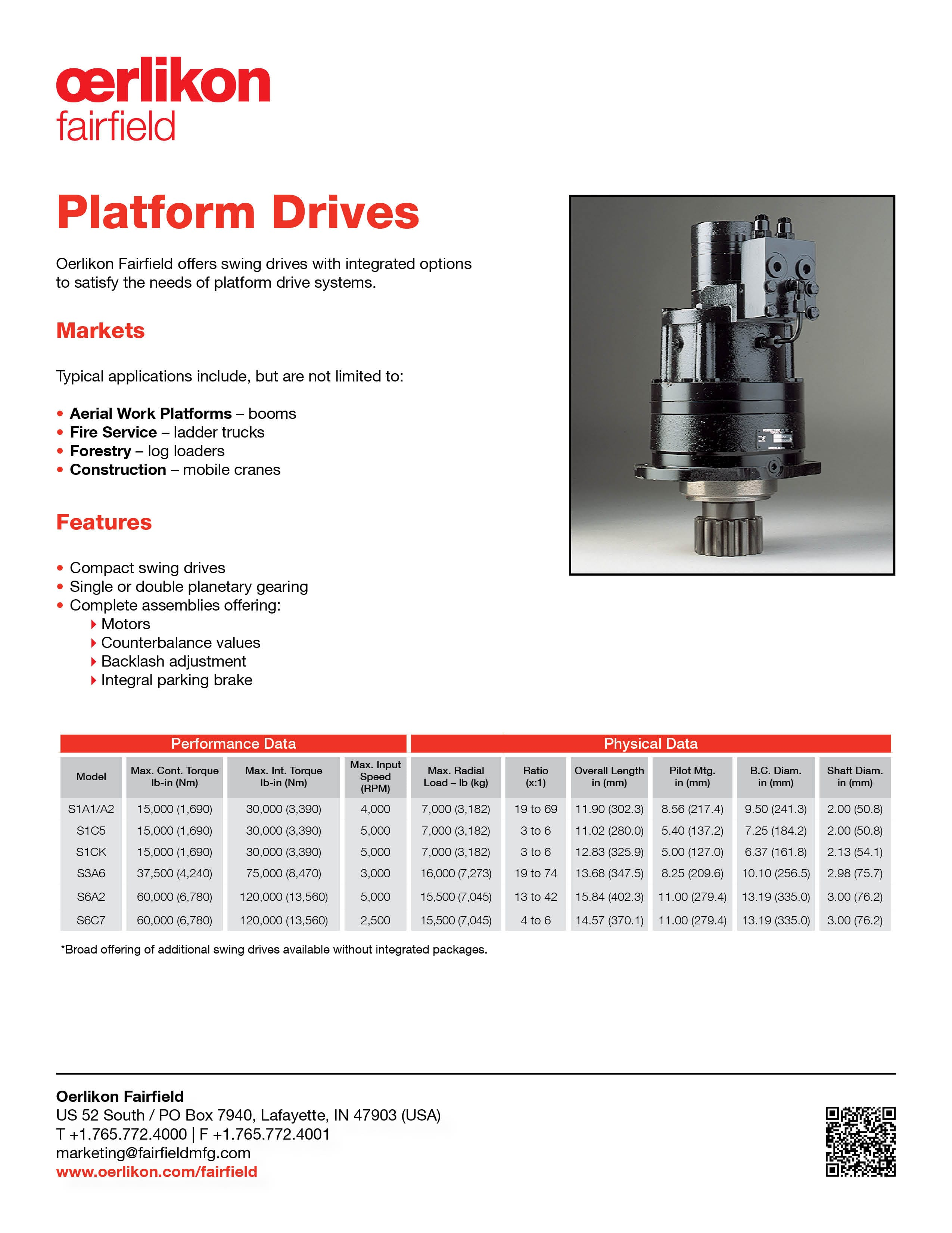 Tech Sheet - Platform Drives
