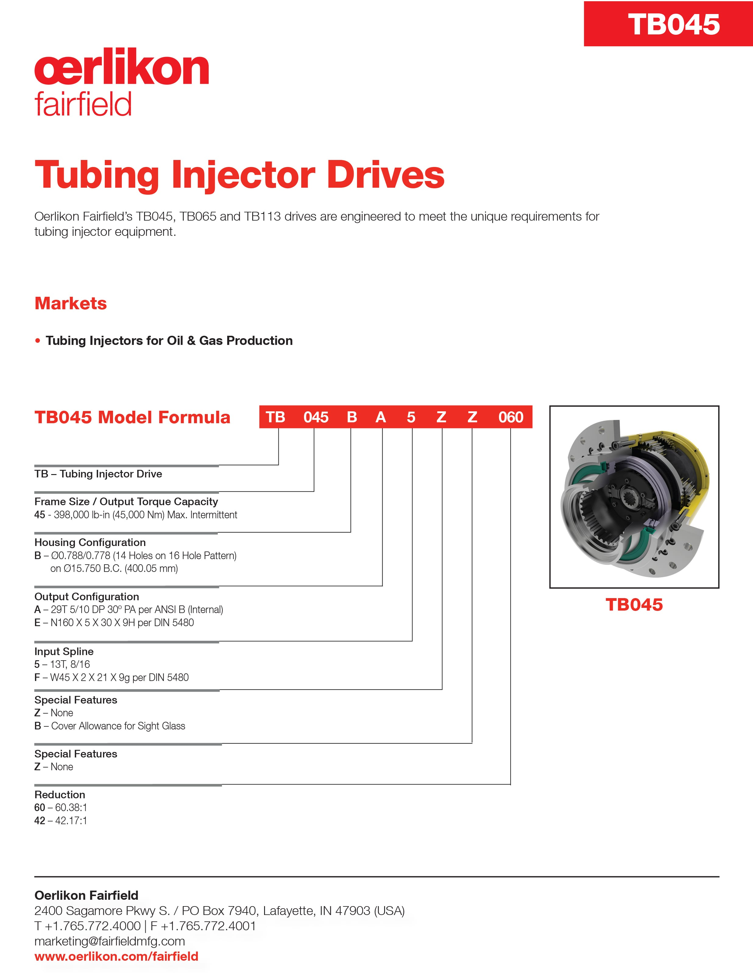 Tech Sheet - Tubing Injector Drives