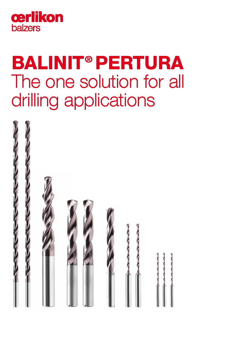 BALINIT® PERTURA – The one solution for all drilling applications