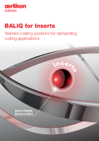BALIQ<sup>®</sup> for Inserts - Tailored coating solutions for demanding cutting applications