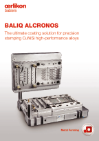 BALIQ ALCRONOS<sup>®</sup> for precision stamping high-performance alloys