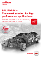 BALIFOR M – The smart solution for high performance applications