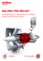 BALORA PVD MCrAlY - Next generation of dense MCrAlY coatings using PVD-ARC technology
