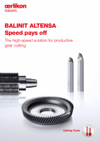 BALINIT<sup>®</sup> ALTENSA - The high-speed solution for productive gear cutting
