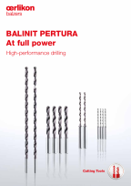 BALINIT<sup>®</sup> PERTURA – High-performance drilling