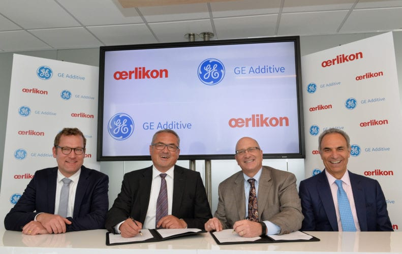 Oerlikon and GEadditive sign partnership